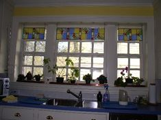 Stained Glass With Soul   Faux Transom For Kitchen Windows