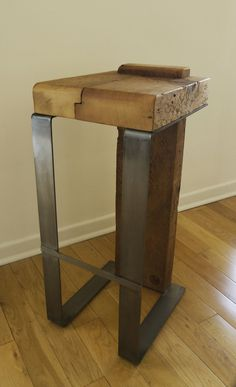 Reclaimed Wood Bar Stool by TicinoDesign on Etsy, $400.00