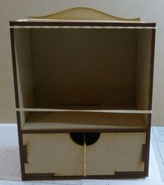 Wood shadow box with a drawer