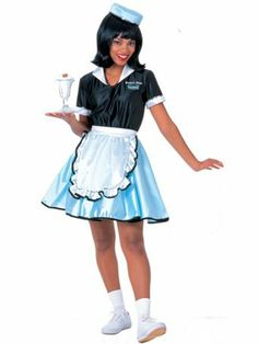 Car Hop Girl Adult | Wholesale 50's Costumes Halloween Costumes for Womens Costumes