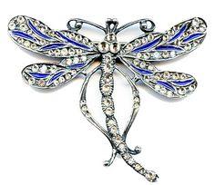 'Plique a Jour' Art Nouveau Dragonfly Brooch