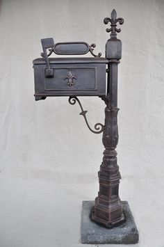 fleur de lis fountains | Fleur de Lis Mailbox | Maison Decor - New Orleans Gifts, Baskets ...