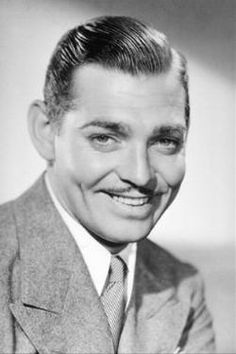 Clark Gable  (Rhett Butler, Gone With the WInd) ~ Born: February 1, 1901, Cadiz, OH ~ Died: November 16, 1960, West Hollywood, CA