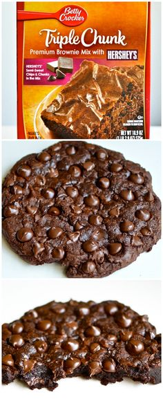 Gigantic Double Chocolate Chip Cookie #bettycrocker