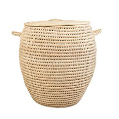 ILLALA PALM LAUNDRY BASKET |  Knus | ZAR 495 Large Baskets, Wicker Baskets, Used Store, Toy Basket, Decorative Items, Storage Spaces, Palm, Artisan, Laundry Basket