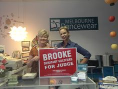 Melbourne Dancewear supports Brooke for Judge!