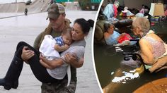 Photos from Hurricane Harvey. THIS IS WHAT USA IS REALLY ABOUT. LOVE FOR ONE ANOTHER NO MATTER THE COLOR RACE OR RELIGION!! THIS IS WHAT COMPASSION FOR ALL HUMAN BEINGS IS REALLY ABOUT!!