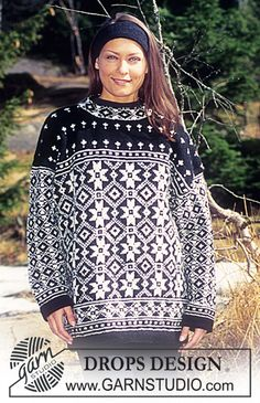 DROPS 47-21 - DROPS Jumper with star pattern in Karisma Superwash - Free pattern by DROPS Design