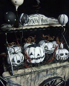 Ghostly pumpkins.....love this