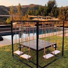 50 summer diy projects pallet swings design ideas and remodel Future House, Outdoor Living, Outdoor Decor, Outdoor Bedroom, Outdoor Office, Dream Rooms, Backyard Patio, Backyard Swings, Backyard Playground