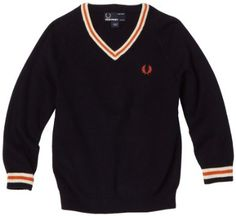Fred Perry Boys Kids Tipped V-Neck Sweater, « Impulse Clothes Mod Fashion, Style Fashion, Fred Perry Polo Shirts, Pretty Outfits, Pretty Clothes, Playing Dress Up, London Fashion, Kids Boys, Little Boys