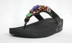 2013 Womens Fitflop Newstyle Emerald Black Clearance ,the greateat discount, off. New Fashion, Fashion Shoes, Fitflop Sandals, Gladiator Flats, Black Gems, Clearance Shoes, Shoes Outlet, Shoe Sale, Zapatos
