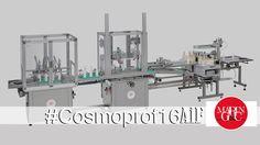 COSMOLIN è una delle novità proposte dall'azienda in occasione di Cosmoprof 2016.  Il funzionamento della macchina è caratterizzato da un riempimento dall'alto con regolazione di velocità tramite inverter. Il prodotto è dotato di nastro di alimentazione bottiglie.