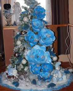 Моя голубика , цветы ручной работы . Новый год, елка