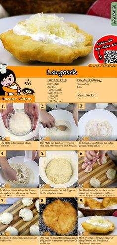 Langosch recipe with video - Hungarian recipes / simple Langosch Rezept mit Video – ungarische Rezepte/ einfache Gerichte Langosch is a Hungarian specialty. You can easily find the Langosch recipe video using the QR code :] - Healthy Cooking, Cooking Recipes, Bread Recipes, Healthy Nutrition, Pizza Recipes, Eating Healthy, Cooking Tips, Hungarian Recipes, Hungarian Cuisine