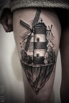 Alex Tabuns_ windmill tattoo