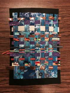 Drip, Drip, Splatter Splash: Mixed Media Weaving