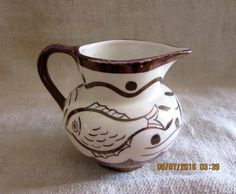 Charming Copper Lusterware Creamer/Pitcher/Cream by angelinabella