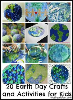 Earth Day is a great opportunity to teach our kids about the environment. Check out this creative list of 20 Earth Day Crafts and Activities for kids. Earth Day Activities, Spring Activities, Holiday Activities, Preschool Activities, Holiday Crafts, Earth Day Projects, Earth Day Crafts, Fun Projects, Classroom Crafts