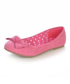 Take a look at this Fuchsia Yart Flat by Jelly Beans on #zulily today!