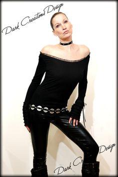 Dark Romance - Romantic Black Lace Sleeve Longsleeve Shirt Sweater Gothic Rock Glamrock Glamour Vintage Unique Ruffle Hot Sexy STYLE. $55.00, via Etsy.