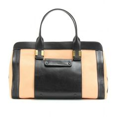 Chloé Alice Two-Tone Leather Tote ($1,995) ❤ liked on Polyvore