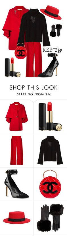 """""""Untitled #3274"""" by kotnourka ❤ liked on Polyvore featuring Marni, Lancôme, Sea, New York, Exclusive for Intermix, Nine West, Chanel, WithChic and Ted Baker"""