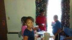 They were having drinks (sparkling grape). They were turnt up.
