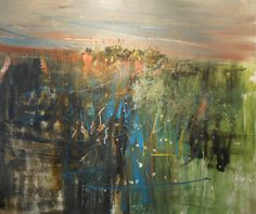 joan eardley paintings - Bing Images Landscape Artwork, Abstract Landscape Painting, Contemporary Landscape, Watercolor Landscape, Paintings I Love, Small Paintings, River Painting, Abstract Geometric Art, Glasgow School Of Art