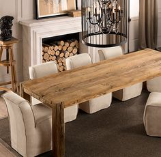 Love this kitchen table.