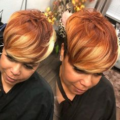 5 week old color & I love it more today! Short Sassy Hair, Short Hair Cuts, Pretty Hairstyles, Wig Hairstyles, Hairstyle Ideas, Hair Ideas, Curly Hair Styles, Natural Hair Styles, Pixie Styles