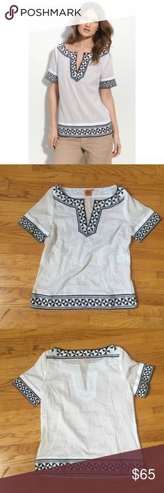 Tory Burch Embroidered Top Brand New! Tory Burch Tops