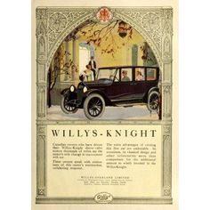 Canadian Home Journal 1921 Advert for Willys-Night Motor-cars Canvas Art - Unknown (18 x 24)