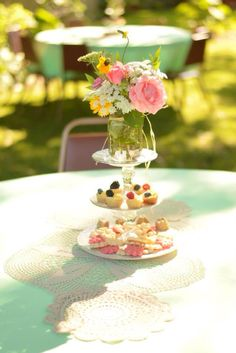 Make sweet treats part of a tea party centerpiece