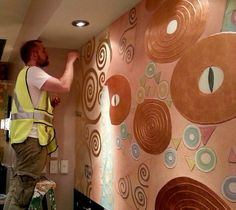 Downtown Disney mural for a jewelry shop at Walt Disney World shopping village- Jeff Huckaby Studio