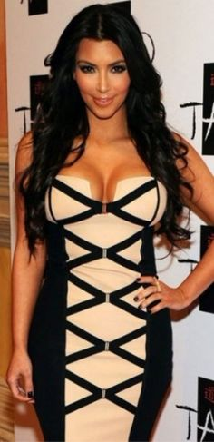 Herve Leger Collection, Kim is a skank, but I do love the dress.