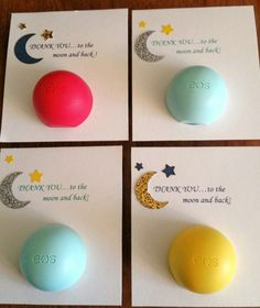 Book themed baby shower favor - thank you to the moon and back
