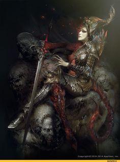 Мрачные картинки,красивые картинки,Тёмное фэнтези,Fantasy,Fantasy art,art,арт,арт барышня,арт девушка, art барышня, art…