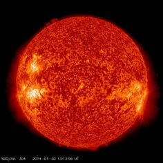 """LUNAR TRANSIT OF THE SUN: Earlier today, the Moon eclipsed the sun. No one on Earth saw it. The """"lunar transit"""" was only visible from space. NASA's Solar Dynamics Observatory recorded the whole thing from geosynchronous orbit."""