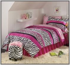 Baby Pink Zebra Bedding