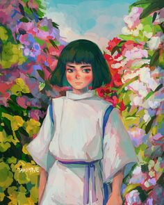 Studio Ghibli Art, Studio Ghibli Movies, Spirited Away Anime, Anime Manga, Anime Art, Rococo Painting, Studio Ghibli Characters, Chihiro Y Haku, Fanart