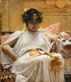 """""""Cleopatra"""" by John William Waterhouse, 1888. Oil on canvas.  (via moveoverrover)"""