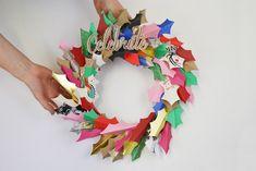 déco de Noël à faire soi-même facile couronne papier idée