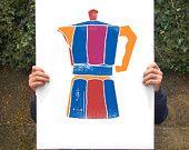 """Italienischer Mokka Poster Drucken 20 """"x 27"""" - Archivierung Fine Art Giclee print"""