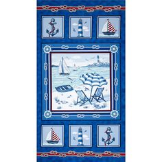 Beach Retreat Panel Multi from @fabricdotcom  Designed by Studio 37 for Marcus Brothers Fabrics, this cotton print fabric is perfect for quilting, apparel and home decor accents. Colors include red, white and blue. This panel measures 24'' x 44''.