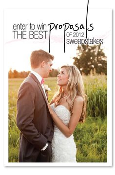 Enter to Win The Best Proposals of 2012 Sweepstakes from http://allurebridals.com/ and you could win a dream dress. Details here: http://www.stylemepretty.com/2013/01/05/real-love-stories-real-allure-brides/