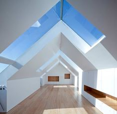 Fonte da Luz Housing - Oporto Residential Building - e-architect Roof Design, House Design, Design Design, Architecture Résidentielle, Loft Spaces, Open Spaces, Loft Apartments, Interior Design Inspiration, New Homes