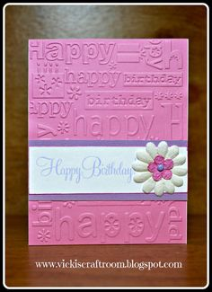 I haven't used the embossing machine much but I decided to experiment with it recently. I really like the simplicity of this card. There a...