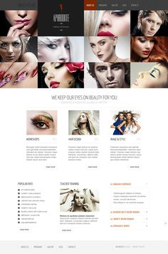 Aphrodite Beauty Website Templates by Delta
