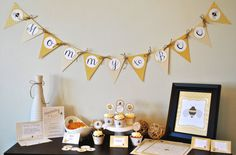 Mommy to Bee Baby Shower Printable Package  by SweetBeePartyShop, $20.00